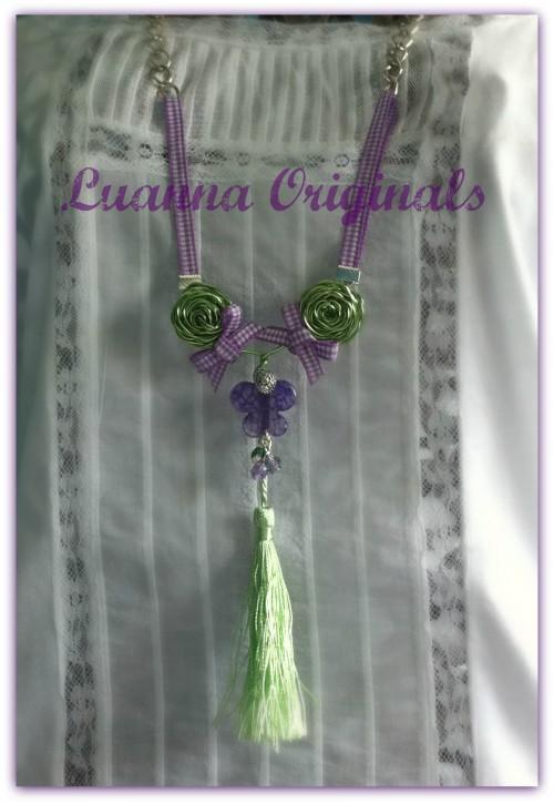 colgante, verde, morado, malva, menta, rosas, mariposa, plateado, lazos, 2012