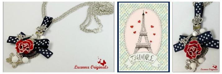 azul, rojo, torre Eiffel, paris, colgante, blanco